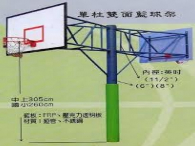雙面單柱籃球架